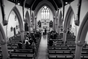Black and White image of the inside of St George's Church in York